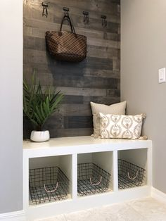 Besides tables, you can rely on benches as your house's entryway furniture. An entryway bench can be. Besides tables, you can rely on benches as your house's entryway furniture. An entryway bench can be as simple as a plank of a wood, long bench. Entryway Furniture, Entryway Decor, Entryway Ideas, Ikea Wall Decor, Diy Furniture, Diy Storage Bench, Diy Bench, Storage Ideas Living Room, Entryway Storage