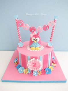 Adorable Owl Themed Birthday Cakes -Pink 3D owl cake made by Aimeejane Cake Design | http://www.sassydealz.com/2014/01/adorable-owl-themed-birthday-cakes.html