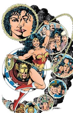 Pin-up by George Perez from the Wonder Woman Gallery published... Pin-up by George Perez from the Wonder Woman Gallery published by DC Comics 1996.