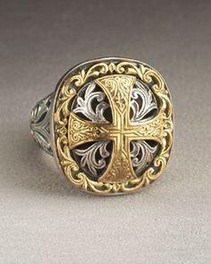 Y0M5W Konstantino Square Cross Ring