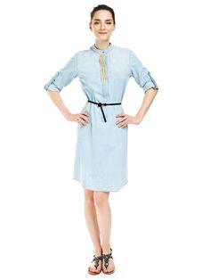 kemerli elbise, kollu, kısa elbise, ofis elbisesi, günlük elbise, mavi renk elbise, buz elbise