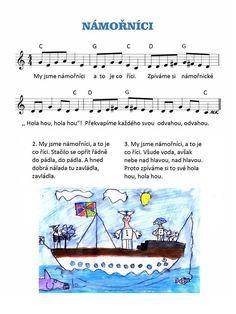 Hanka Kašpárková Káčerová's media content and analytics Pirate Activities, Activities For Kids, Music Do, Kids Songs, Videos Funny, Sheet Music, Transportation, Kindergarten, Poems