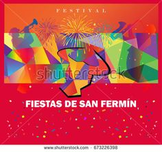 Abstract Spain Festival background. Vector illustration.