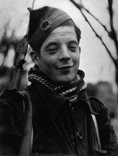 Member of the International Brigades; Madrid, Spain - November 1936    Photo by Robert Capa