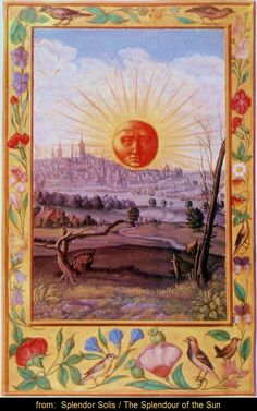 [The Harley 3469] SPLENDOR SOLIS, 1582, The Splendour of the Sun, is a well-known colorful alchemical manuscript...  The author was considered to be the legendary SALOMON TRISMOSIN, allegedly the teacher of Paracelsus...   [It] sets forth the philosophy of alchemy, a world view according to which the human being (the alchemist) exists & acts in harmony with nature... ...One of the British Museum's most valuable treasures. - wiki. ... GORGEOUS! Use link to see all pages.