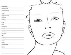 facetemplate2 Natural Eyeliner, Gold Eyeliner, Natural Eyelashes, Mac Face Charts, Blonde With Blue Eyes, Face Outline, Face Template, Makeup Face Charts, Too Faced Concealer