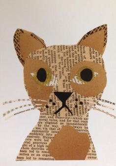 Meow, simple collage art cat that made me smile,