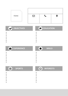 Montjuic Is A Free Clean And Simple Resume Template For Ms Word