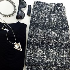 """Black and White Tweed Mini Skirt Details:  • Size 14 • Back zip • Slight high low hem • Lined • Waist: 17.5"""" across when laid flat • Length: 16.75"""" in front, 18.75"""" in back • Fabric content: 70% polyester, 18% cotton, 12% viscose; lining: 100% polyester • NWT   11251528 Banana Republic Skirts Mini"""