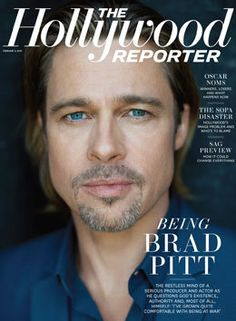 Brad Pitt on the cover of The Hollywood Reporter in 2012.