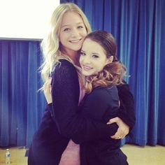 brooke with Mollee who plays Giggles on Teen beach movie!!!