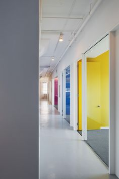 White with color pops. Note semi-exposed ceiling. now-what-new-york-office-design-2