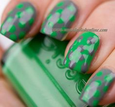 I like the idea of one accent nail in reverse colors.