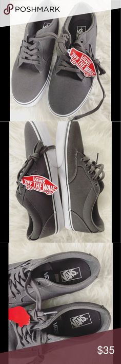 🖤SALE:FINAL PRICE🖤Men's Vans Shoes New with tags Men's Vans. Size 10.5. Dark grey color. Vans Shoes Sneakers