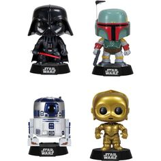 Funko - Star Wars POP! Vinyl Collectors Set: Darth Vader, Boba Fett, R2-D2, C-3PO - Multi