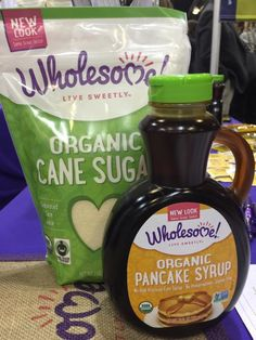 Quickest way to eliminate sugar beet GMO sugar?  Switch over to Wholesome! organic cane or coconut sugar. New branding and syrups to discover too!  #TeamCHFAwest