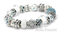 Amazon.com: Bella Fascini Aquamarine Blue Rounds - Swarovski Crystal Element Stones - Colorful Fashion and March Birthstone - Solid 925 Sterling Silver European Charm Bracelet Bead - Compatible Brands: Authentic Pandora, Chamilia, Moress, Troll, Ohm, Zable, Biagi, Kay's Charmed Memories, Kohl's, Persona & more!: Jewelry