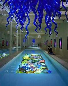Chihuly swimming pool