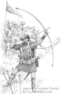 Yorkist Longbowman. Sketch Tweksbury event poster.