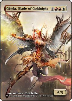 Magic the Gathering - Gisela, Blade of Goldnight by ASliceOfUnagi.deviantart.com on @deviantART