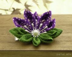 Purple Lotus Kanzashi - JEWELRY AND TRINKETS