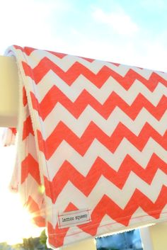 a lemon squeezy home.: Chevron and Bird Baby Blankets