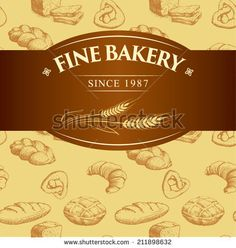 bakery bread.  seamless background pattern. labels pack for bread, baguette, loaf, cake, baked, croissant,bun. bread,  bakery shop,  cake,  bakery logo,  baking,  pastry,  cupcake,  bakery products