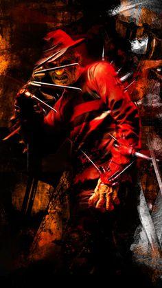 Freddy Krueger-A Nightmare On Elm Street. Freddy Krueger, Horror Icons, Horror Films, Horror Art, Robert Englund, Horror Movie Characters, Fright Night, Nightmare On Elm Street, Halloween Horror