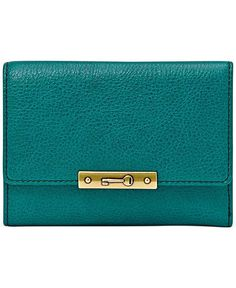 Fossil Knox Leather Flap Wallet - Wallets & Wristlets - Handbags & Accessories - Macy's