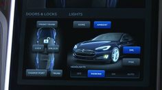 2013 Tesla Model S Dashboard Display - lighting controls
