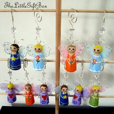 Fairy Butterfly / Wooden peg doll / Cake by TheLittleGiftBox, $12.95
