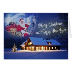 Santa and His Ferrets Merry Christmas Card #cards #christmascard #holiday