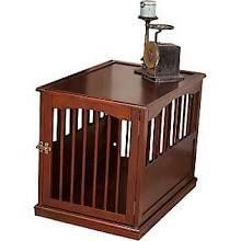 Primetime Petz Pet Crate End Table in Walnut (Brown); Large (27.3'' H x 24'' W x 36'' L)