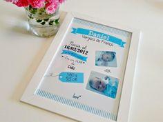 Laminas de nacimiento personalizada Office Supplies, Happy, Bb, Birth, Note Cards, Presents, Manualidades, Ser Feliz, Being Happy