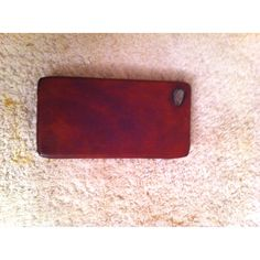 Leather iPhone 4 case I made