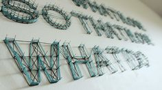Over winter break I experimented with typography as string/installation art.