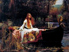The Lady of Shalott by John William Waterhouse Famous Fine Art Reproduction World Famous Painting Replica on ped Print Wood Framed - Canvas Art Wall Decor - John William Waterhouse, Lawrence Alma Tadema, Wassily Kandinsky, Arte Complexa, Canvas Frame, Canvas Art, Milan, World Famous Paintings, Alphabet