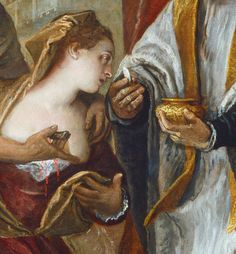 """The Martyrdom and Last Communion of Saint Lucy"" (detail), c. by Paolo Veronese (Paolo Caliari) (Venetian, Santa Lucia, Communion, Blacks In The Bible, Venetian Painters, Surrealism Photography, European Paintings, Catholic Saints, Italian Art, Renaissance Art"