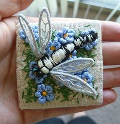 Tiny stitching - more stumpwork flora and fauna [pic heavy!] -best of 2014- NEEDLEWORK