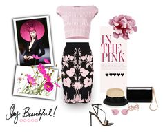 """""""Pink is Love"""" by michelletheaflack ❤ liked on Polyvore featuring Alexander McQueen, Jimmy Choo, Gianvito Rossi, Oliver Peoples, Yves Saint Laurent, Eugenia Kim and bi"""