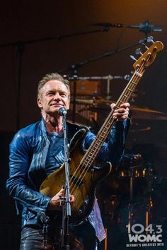 Sting working that big bass.
