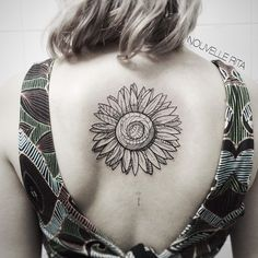Center Back Sunflower tattoo