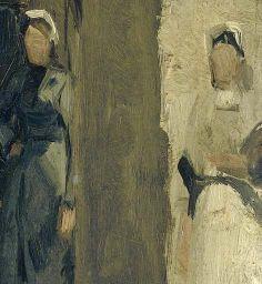 Buurtje in Den Haag of Scheveningen (George Hendrik Breitner, c. 1880 - c. 1923, Rijksmuseum, Amsterdam)