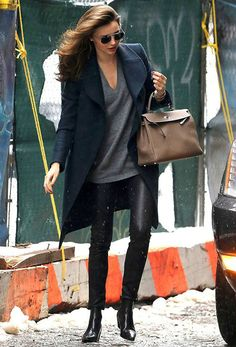 Miranda Kerr media gallery on Coolspotters. See photos, videos, and links of Miranda Kerr. Estilo Miranda Kerr, Miranda Kerr Style, Miranda Kerr Son, Mode Chic, Mode Style, Looks Style, Style Me, Black Leather Pants, Leather Leggings