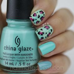 beautiful Animal Print Nails for #omd2nails - Nail That Accent!