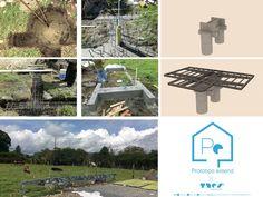 Proceso Estructural _ Fundaciones Polaroid Film, Medellin Colombia, Prefab Homes