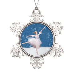 Shop Snow Queen Ballerina Customizable Snowflake Pewter Christmas Ornament created by ToeDancer. Fairy Makeup, Mermaid Makeup, Makeup Art, Snowflake Ornaments, Ball Ornaments, Christmas Ornaments, Snow Queen Costume, Snowflakes Falling