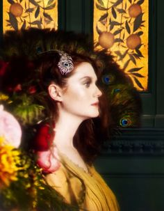 Shot in the Green Dining Room of the Victoria & Albert musem, London. Beautifully photographed by Yuval Hen and styled by Damian Foxe, featuring actress Bonnie Wright