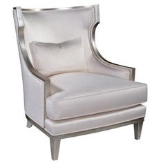 Emerson et Cie Contemporary Wing Chair 33 3/4 x 35 1/2 x 38 1/2H Seat Height 19 Seat Depth 21 1/2 Arm Height 21 1/4