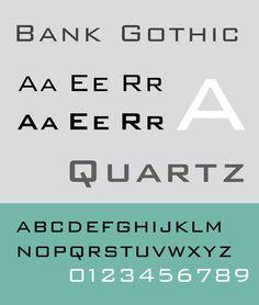 Font Bank Gothic Specimen Sample selection: www.rotterdam-vormgeving.nl